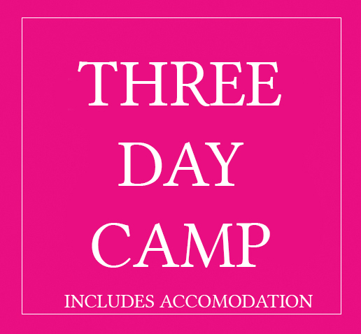 3 Day Camp (including Overnight Accomodation)